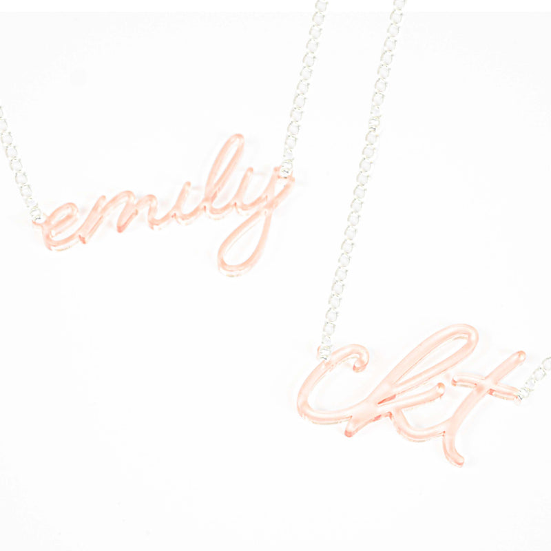 custom word necklace | personalized gift