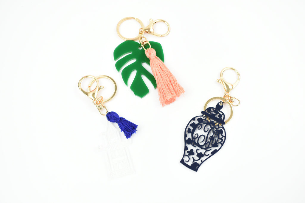 MONSTRERA LEAF KEYCHAIN