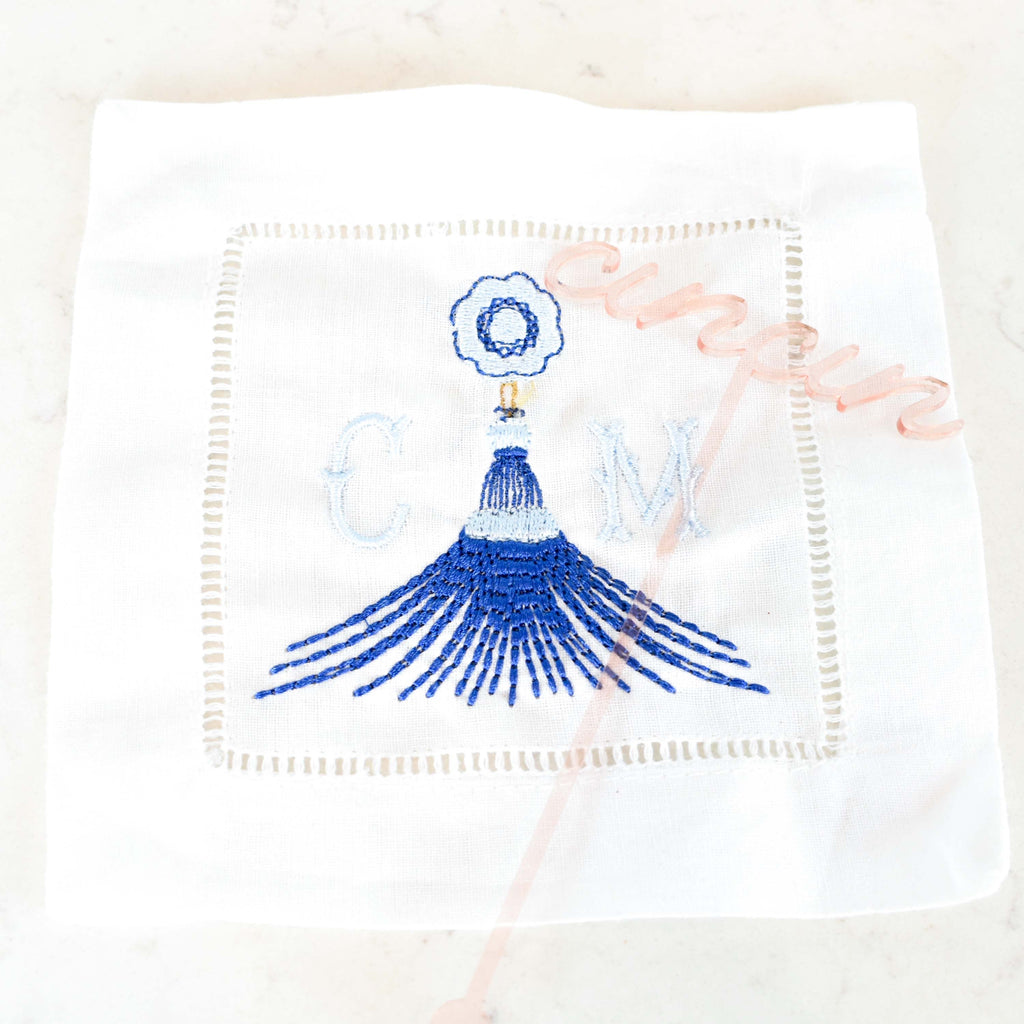 tassel monogram - custom cocktail napkin