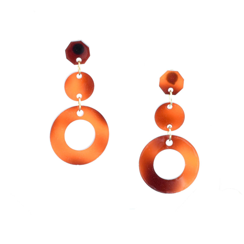 TORTOISE SHELL EDIE EARRINGS