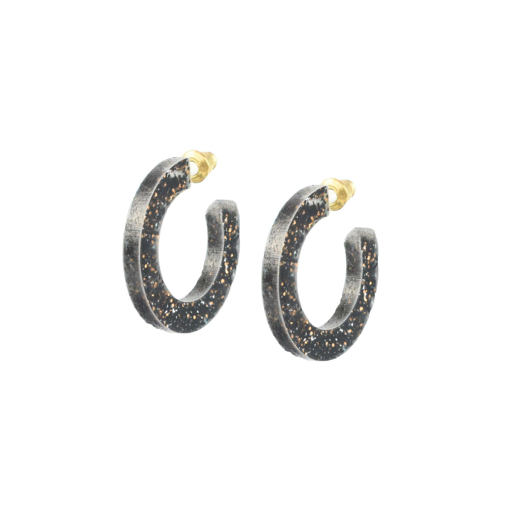 lightweight earrings - glitter hoop earring