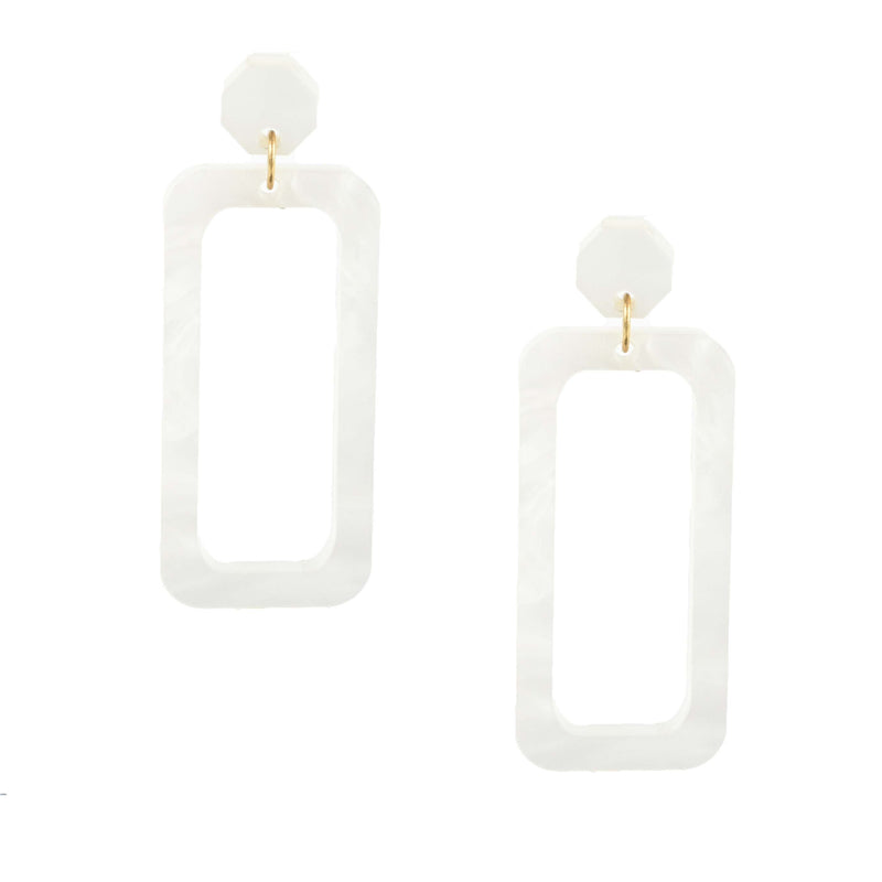 pearl decor drops - pearlescent statement earrings