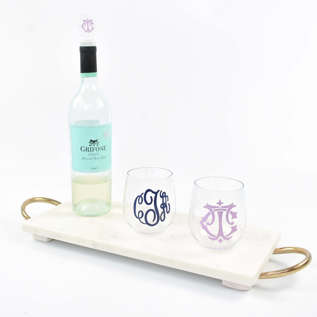 monogram wine stopper - custom bottle stopper