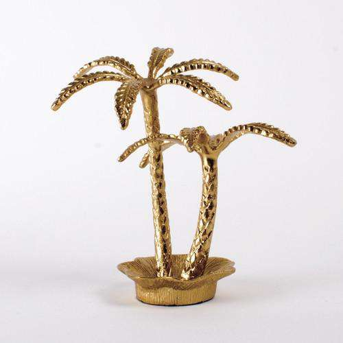 palm tree jewelry holder - gold palm trees