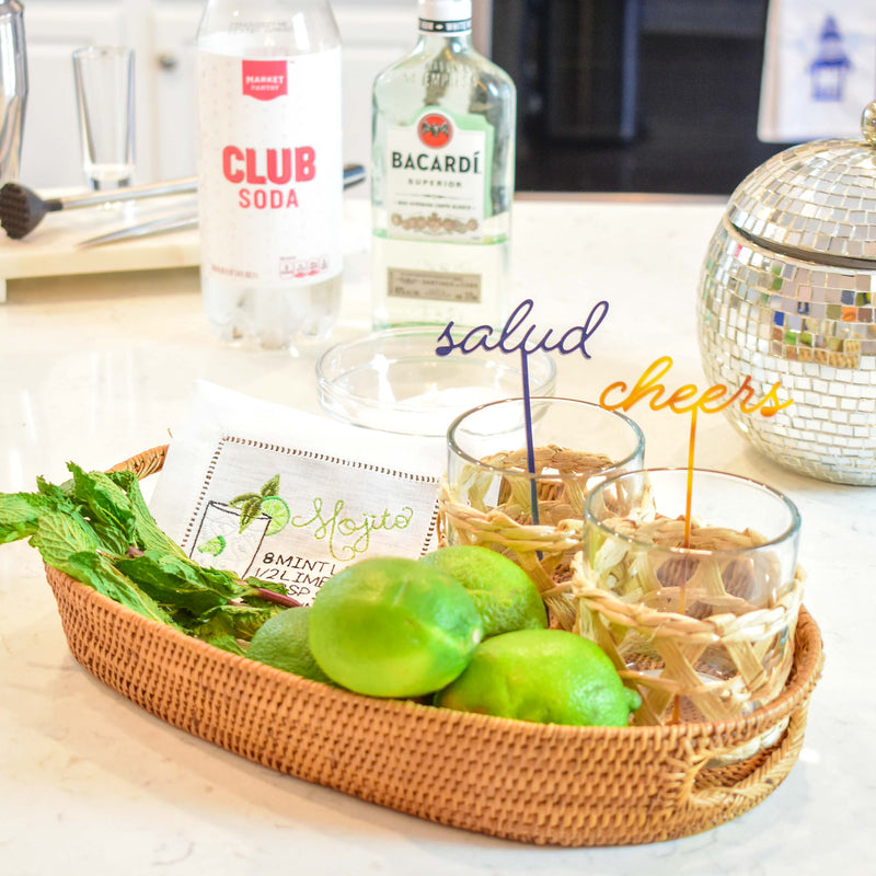 mojito recipe cocktail napkin