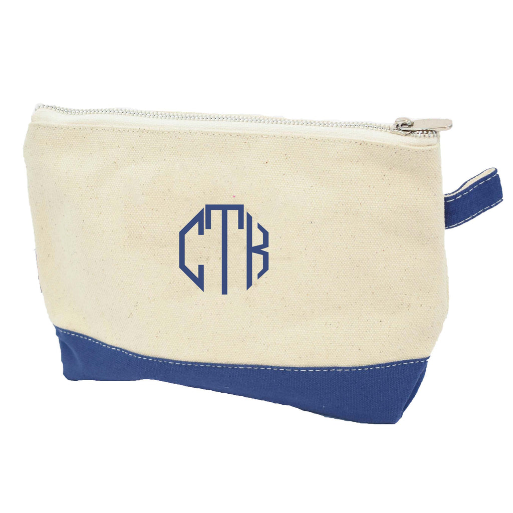 monogrammed makeup bag - bridesmaid makeup pouch