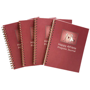 Happy Athlete Progress Journal 4-pack