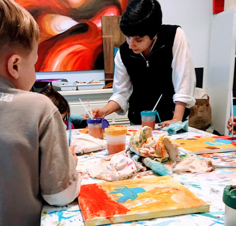 Kids Art Class in Austin with Meena Matai in Circle C