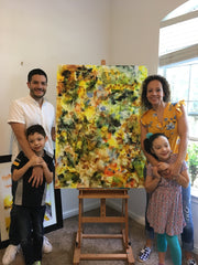 family art experience together create painting austin meena matai