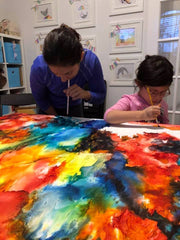 Family art experience austin create a painting together as a family