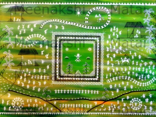 Celebration of Life Warli commissioned by private collector