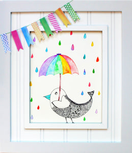 Nursery Art: Believe in Color