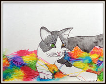 Nursery Art: Zig Zag, the Cat