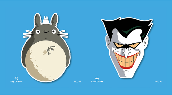 Totoro and Joker Sticker by Rico Jr. | PopCultArt