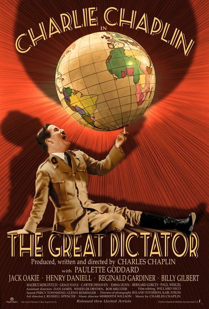 "Charlie Chaplin's ""The Great Dictator"" by Bruce Emmett (Original) 