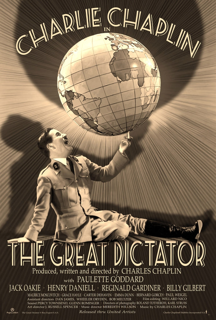 "Charlie Chaplin's ""The Great Dictator"" by Bruce Emmett (Variant) 