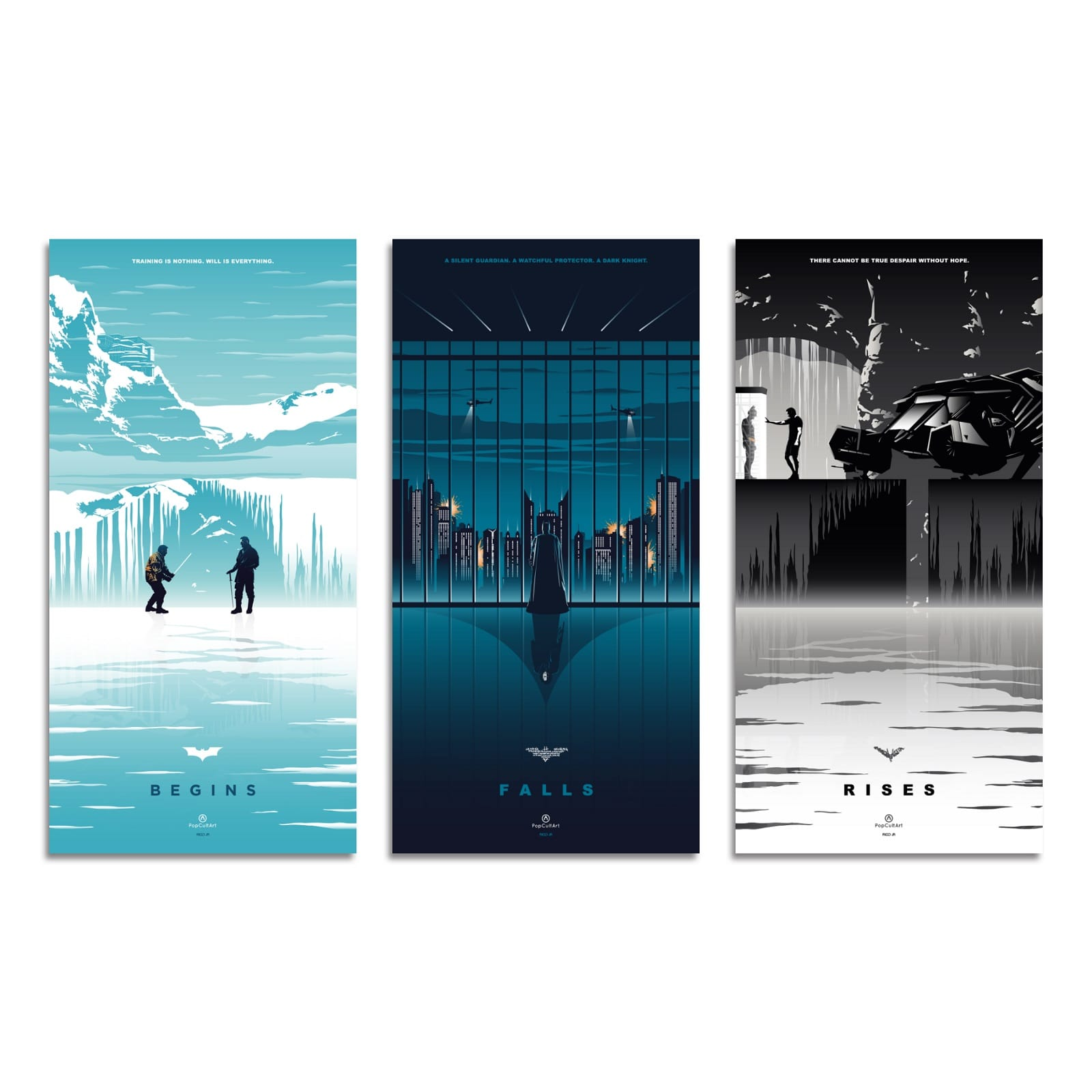 Batman Trilogy by Rico Jr. | Giclee |  PopCultArt