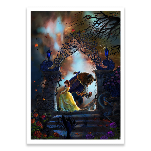 Beauty and the Beast | Disney Movie Poster | Guy Vasilovich | PopCultArt