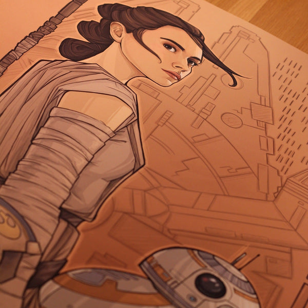 Beyond Jakku by Karen Hallion | Lithograph |  PopCultArt