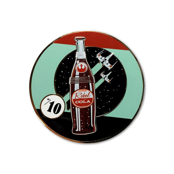 Rebel Cola #1 Collectible Pin by Steve Thomas | Star Wars | PopCultArt