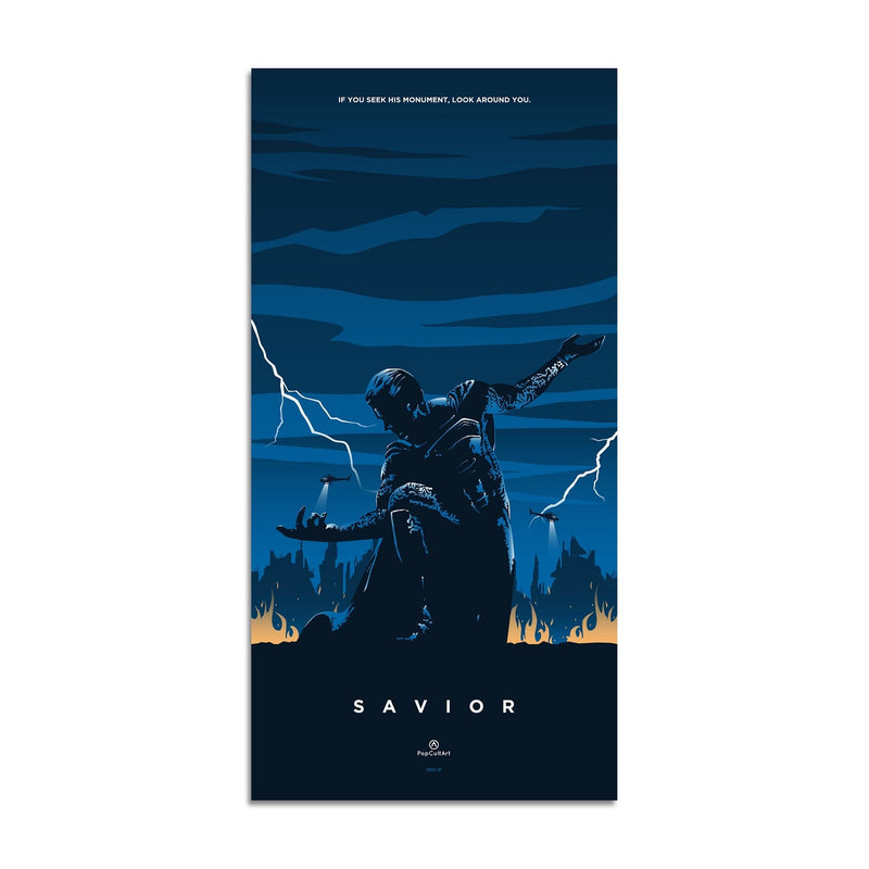 Superman Triptych (Original) | Savior by Rico Jr. | Giclee |  PopCultArt