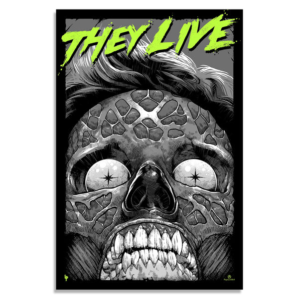 They Live (Glow-In-The-Dark Variant) by Luke Preece | Screenprint |  PopCultArt