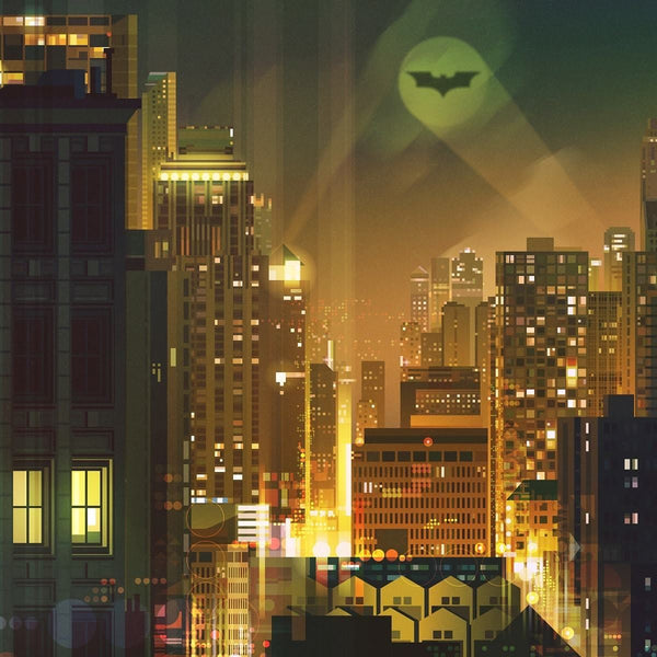 Gotham (Original) by James Gilleard Close-up 1 | PopCultArt