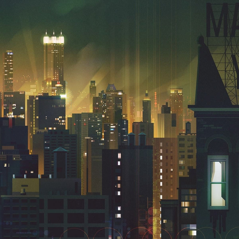 Gotham (Original) by James Gilleard Close-up 3 | PopCultArt