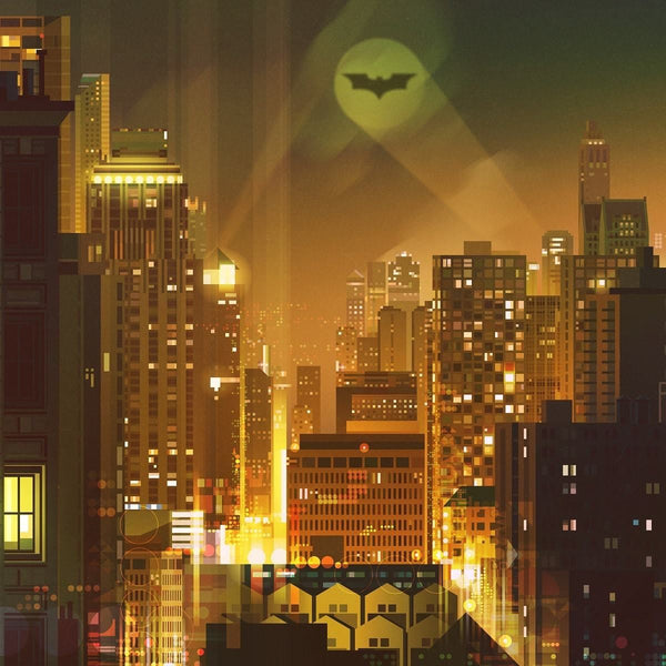 Gotham (Variant) by James Gilleard Close-up 1| PopCultArt