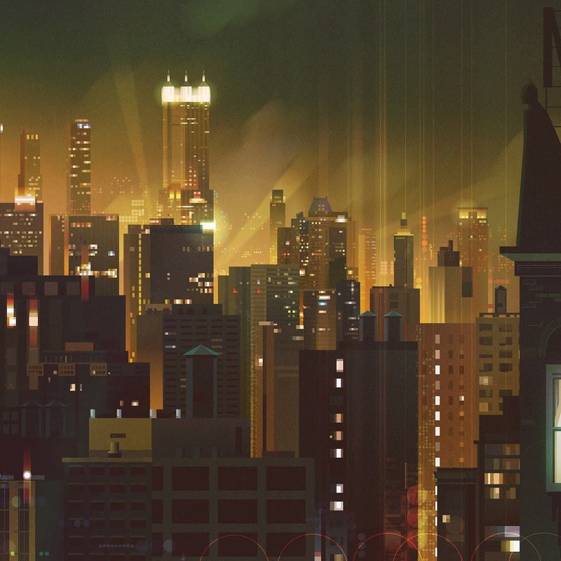 Gotham (Variant) by James Gilleard Close-up 3 | PopCultArt