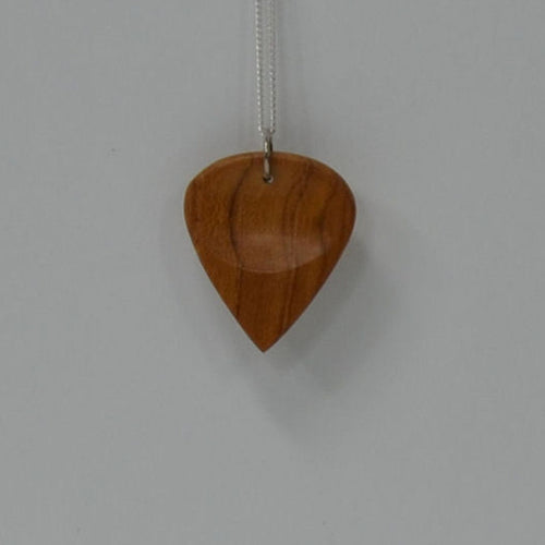 Wood Guitar Pick Necklace