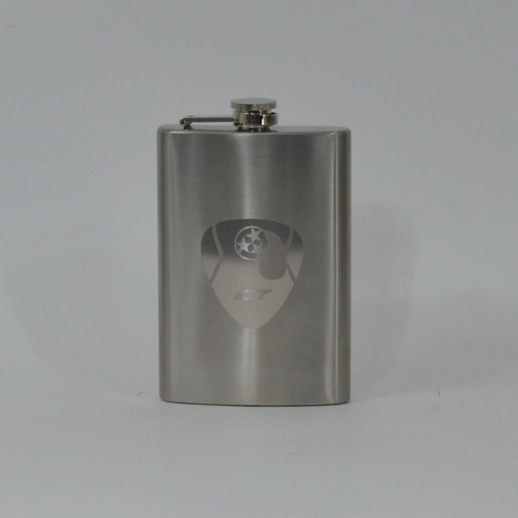 8 oz. Stainless Steel Flask with engraved