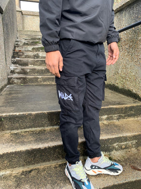 Embroidered logo cargos