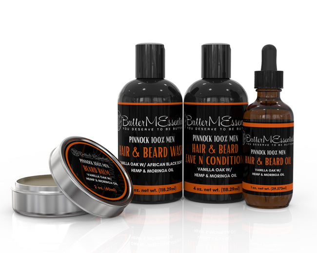 Men Kit (Beard & Hair Oil, Pomade, Shampoo, Leave N Conditioner)