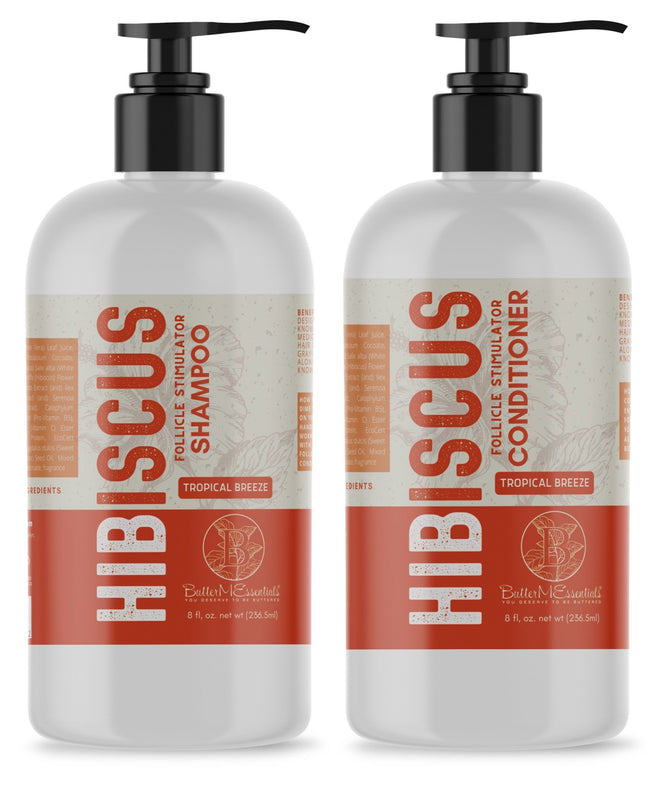 Hibiscus Follicle Stimulator Shampoo & Conditioner Set 8oz.