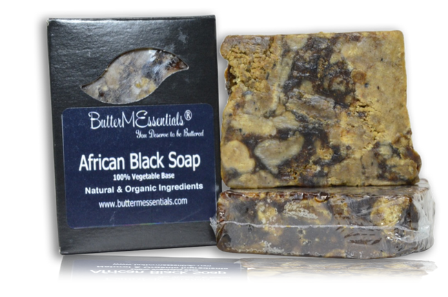 African black soaps in the package, unpacked, and wrapped