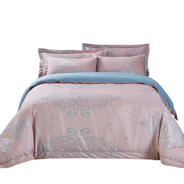 Dolce Mela Ancona Sateen Cotton Luxury King Duvet Cover Reversible Design Bedroom Bedding Set - My Bedding Obsession