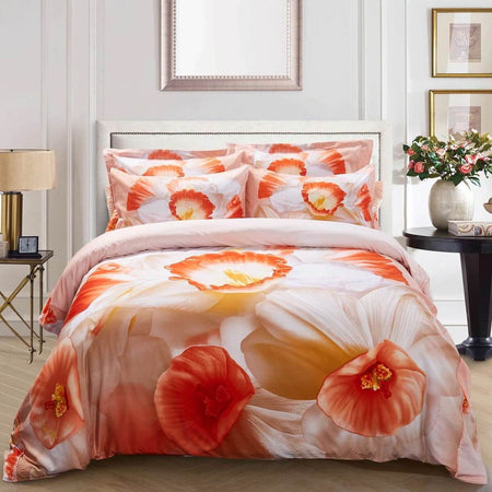Dolce Mela Capri Cotton Luxury Queen & King Duvet Cover Reversible Design Bedroom Bedding Sets
