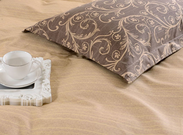 Dolce Mela Bolzano 100% Cotton Luxury Queen Duvet Cover Reversible Design Bedroom Bedding Set - My Bedding Obsession