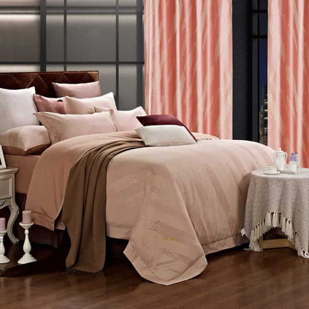 Dolce Mela San Marino 100% Cotton Luxury King Duvet Cover Reversible Design Bedroom Bedding Set