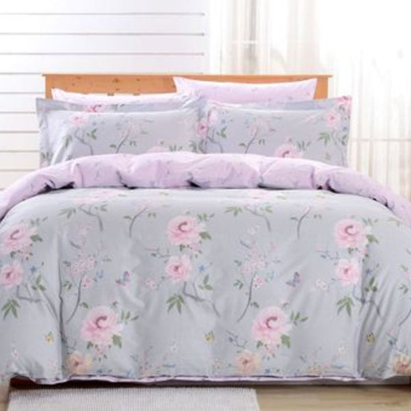 Dolce Mela Cosenza 100% Cotton Luxury Queen Duvet Cover Reversible Design Bedroom Bedding Set - My Bedding Obsession