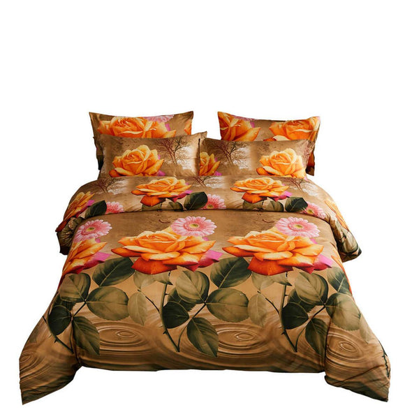 Dolce Mela Eden Sateen Luxury King Duvet Cover Reversible Design Bedroom Bedding Set - My Bedding Obsession