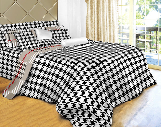 Dolce Mela Check 100% Cotton Luxury Queen & King Duvet Cover Reversible Design Bedroom Bedding Sets - My Bedding Obsession