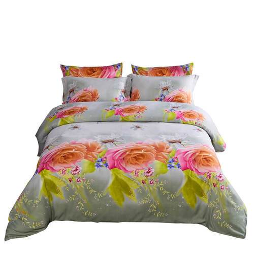 Dolce Mela Innocence Sateen Microfiber Luxury King Duvet Cover Reversible Design Bedroom Bedding Set - My Bedding Obsession