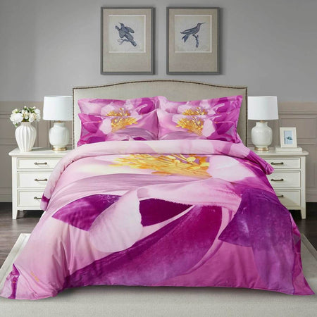 Dolce Mela Ecstasy Cotton Luxury Queen & King Duvet Cover Reversible Design Bedroom Bedding Sets