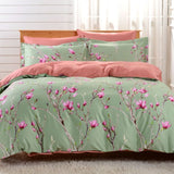 Dolce Mela Kiev 100% Cotton Luxury Queen Duvet Cover Reversible Design Bedroom Bedding Set - My Bedding Obsession