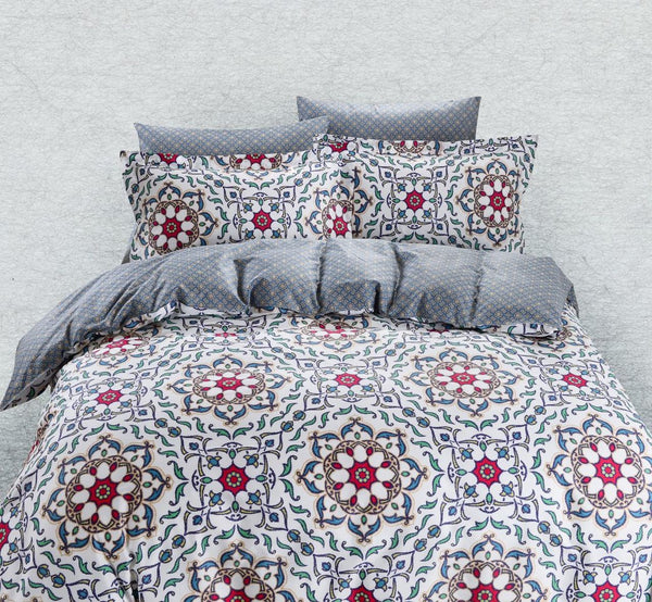 Dolce Mela Lanzarote 100% Cotton Luxury Queen Duvet Cover Reversible Design Bedroom Bedding Set - My Bedding Obsession