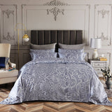 Dolce Mela Las Vegas Sateen Cotton Luxury King Duvet Cover Reversible Design Bedroom Bedding Set - My Bedding Obsession