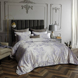 Dolce Mela Munich Sateen Cotton Luxury King Duvet Cover Reversible Design Bedroom Bedding Set - My Bedding Obsession
