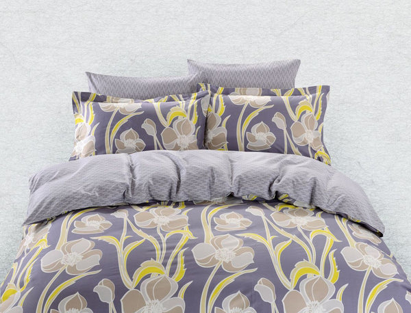 Dolce Mela Nafplio 100% Cotton Luxury Queen Duvet Cover Reversible Design Bedroom Bedding Set - My Bedding Obsession